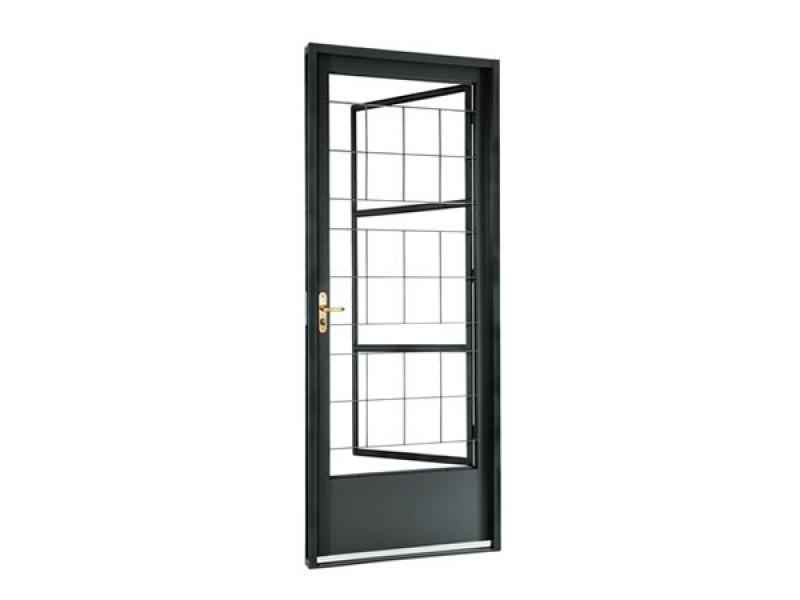 Imagem do produto Porta social de abrir com postigo Belfort grade quadriculada