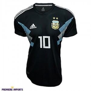 Foto1 - Camisa Oficial Argentina Away Messi 10 2018