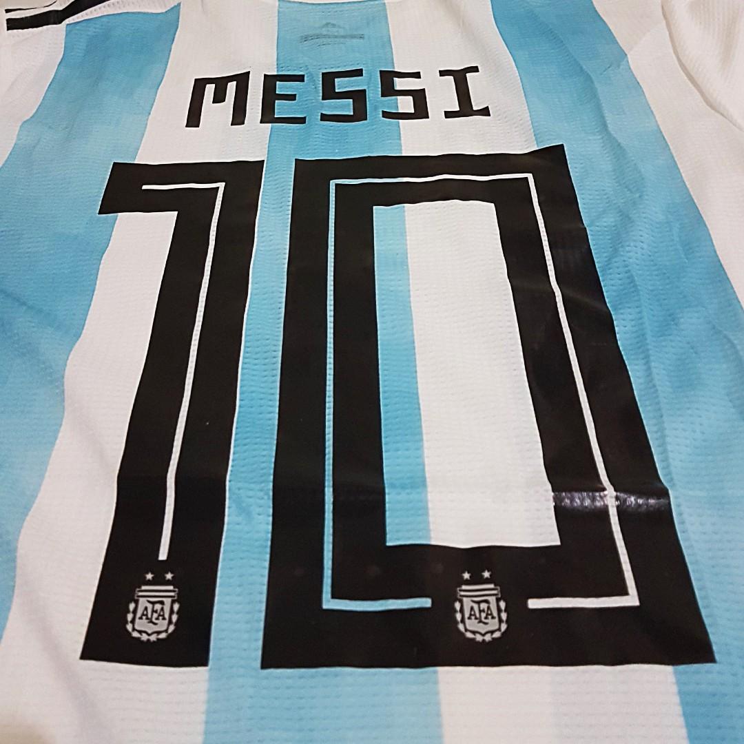 Foto5 - Camisa Oficial Argentina Home Messi 10 2018