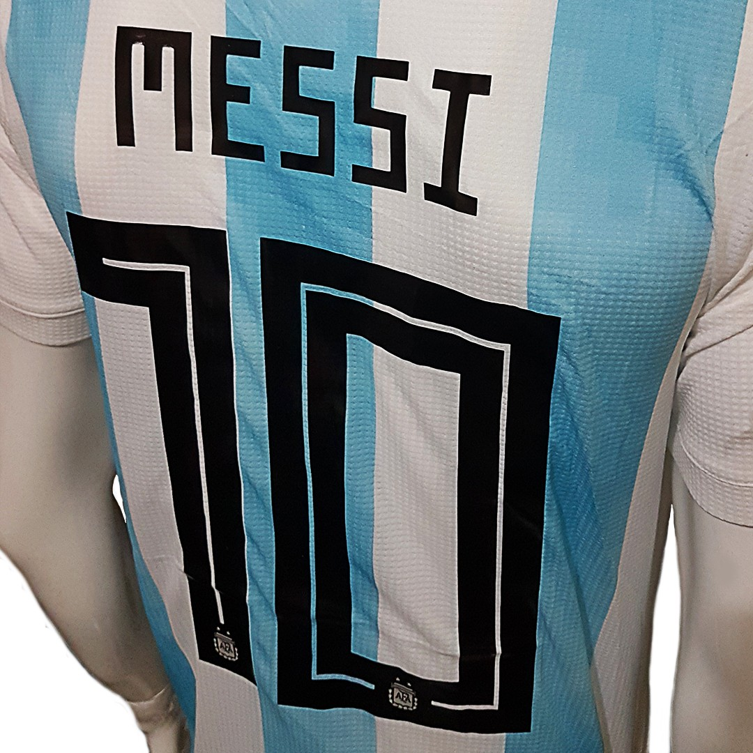 Foto4 - Camisa Oficial Argentina Home Messi 10 2018