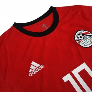 Foto7 - Camisa Oficial Egito Home Salah 10 2018