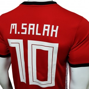 Foto3 - Camisa Oficial Egito Home Salah 10 2018