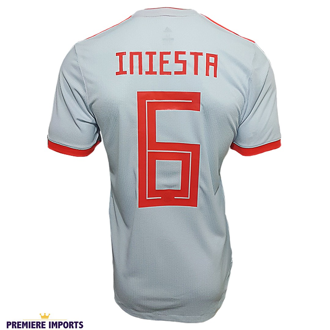 Foto6 - Camisa Oficial Espanha Away Iniesta 6 2018
