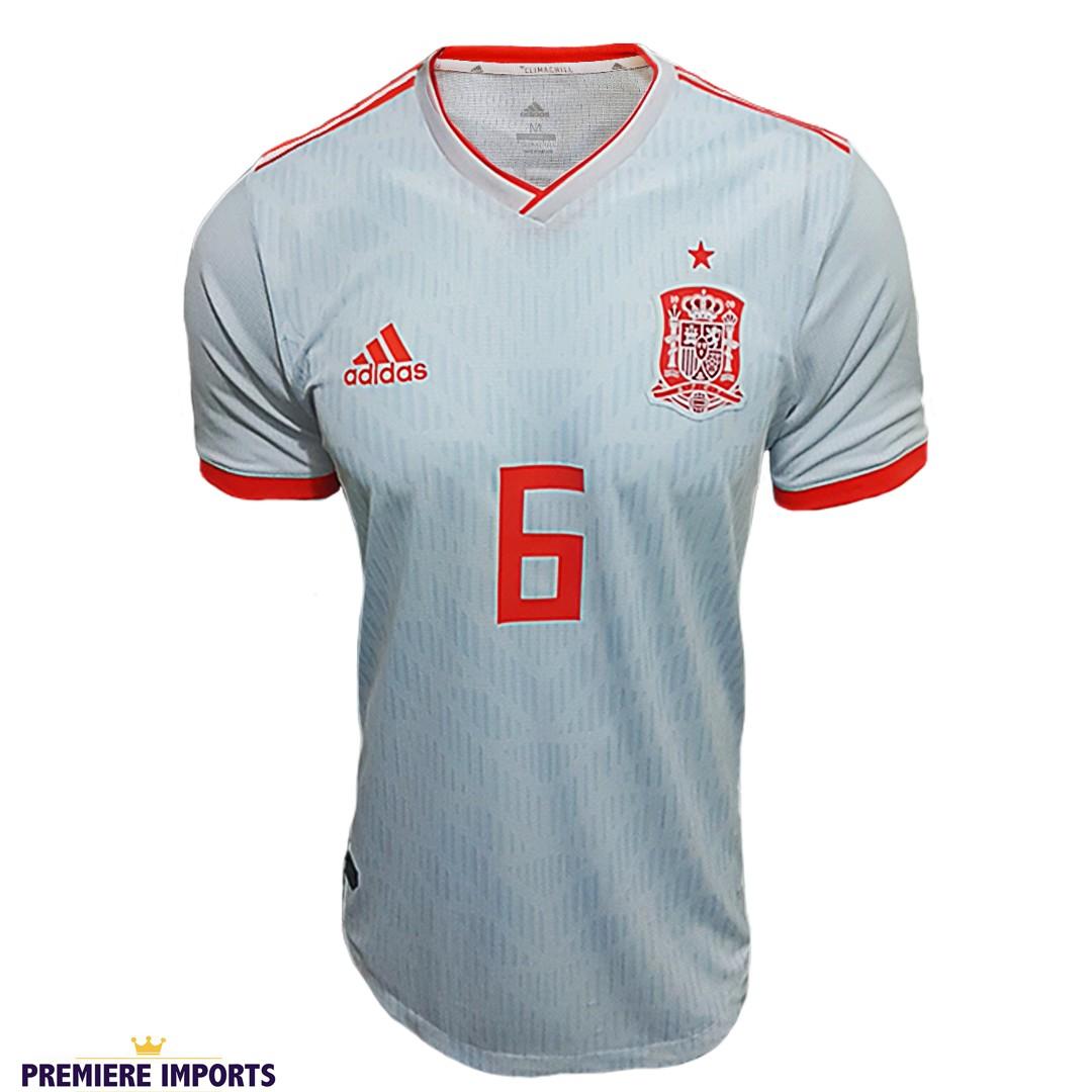 Foto 1 - Camisa Oficial Espanha Away Iniesta 6 2018