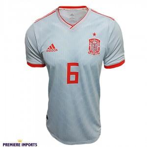 Foto1 - Camisa Oficial Espanha Away Iniesta 6 2018
