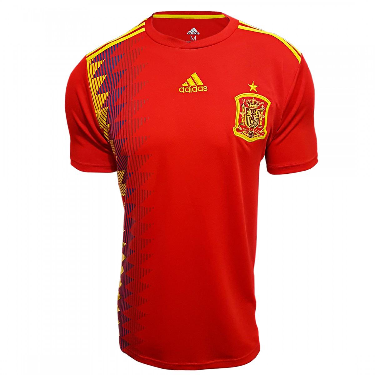Foto 1 - Camisa Oficial Espanha Home 2018