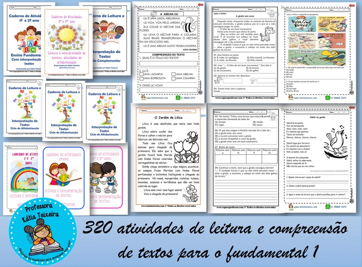 Imagem do produto 320 Atividades de leitura e compreensão textual para o fundamental 1