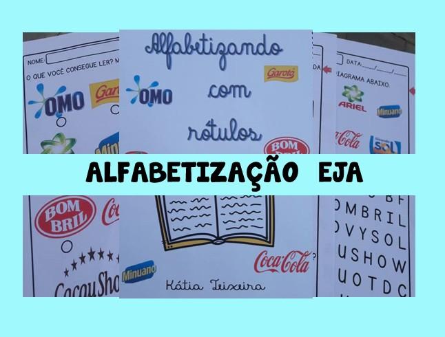 Foto 1 - Alfabetizando com rótulos ideal para EJA