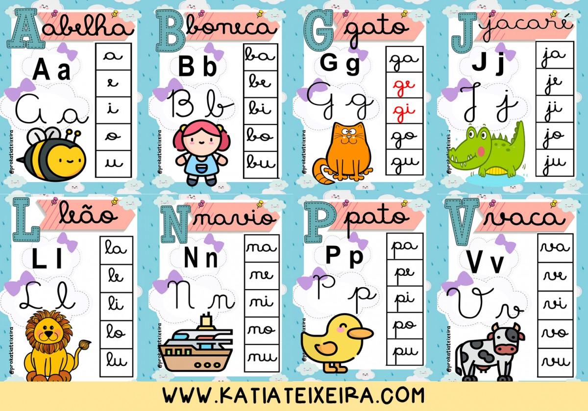 Imagem do produto Alfabeto com sílabas chuva de amor letra cursiva