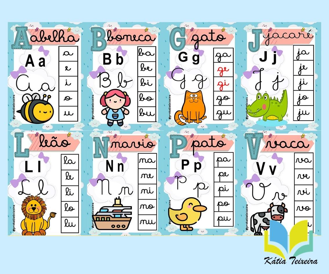 Imagem do produto Alfabeto com sílabas chuva de amor letra cursiva em PDF