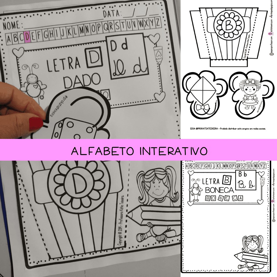 Imagem do produto Alfabeto interativo, letras, desenhos, tipos de letras, palavras e sílabas