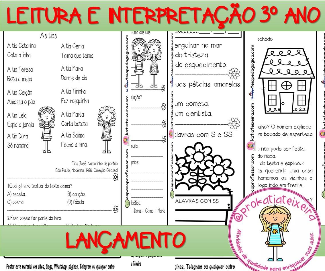 Imagem do produto APOSTILA DE ATIVIDADES PORTUGUÊS 3 ANO V. 1