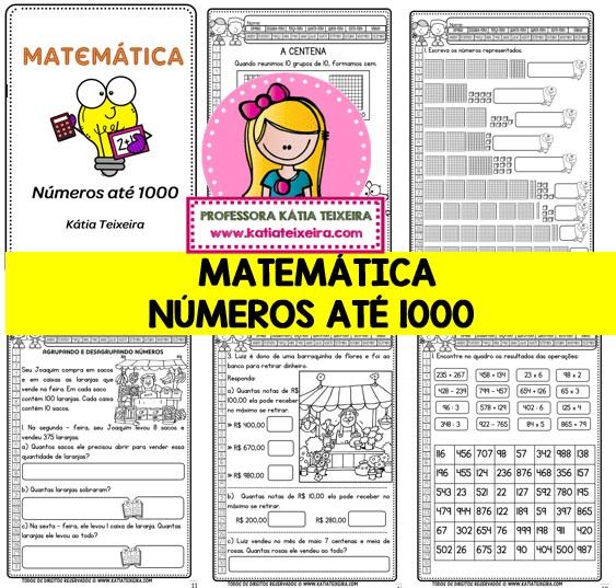 Foto 1 - Atividades de matemática números até 1000 com diversos conteúdos