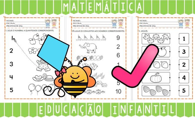 Foto2 - Atividades de Matemática para Educação Infantil Números de 0 a 10