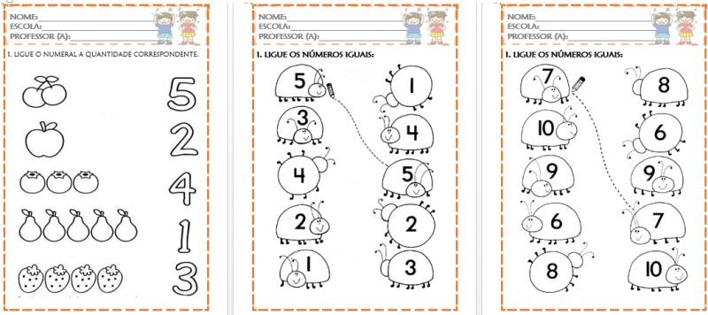 Foto3 - Atividades de Matemática para Educação Infantil Números de 0 a 10