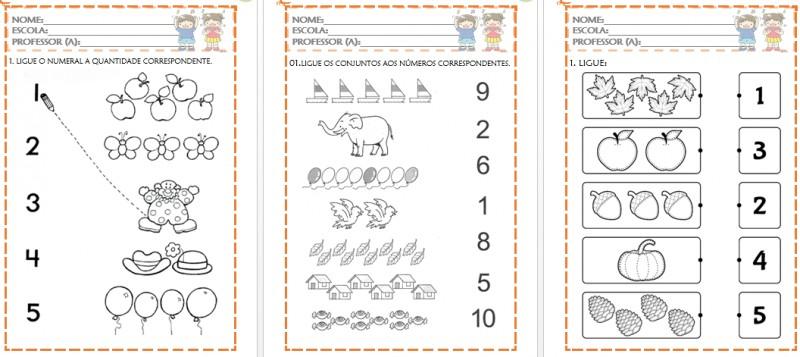 Foto4 - Atividades de Matemática para Educação Infantil Números de 0 a 10