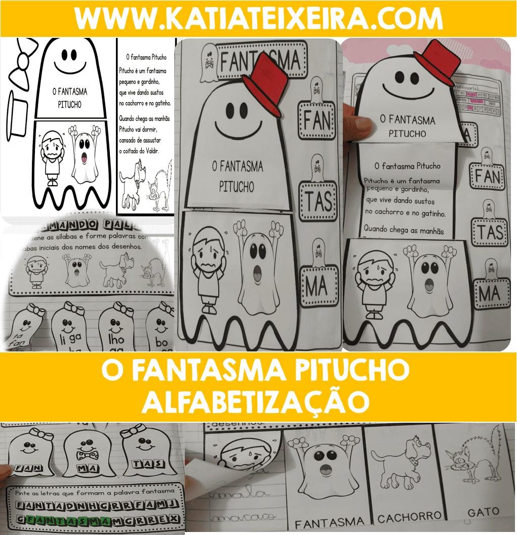 Imagem do produto Atividades para alfabetização. Sequência didática O Fantasma Pitucho