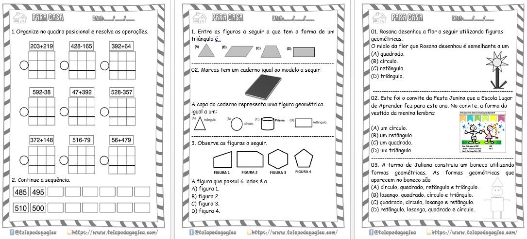 Foto3 - Atividades Para Casa Matemática 3º ano 30 páginas