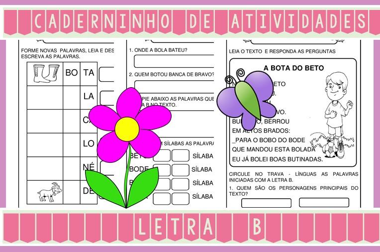 Foto4 - Caderninho de Atividades Letra B