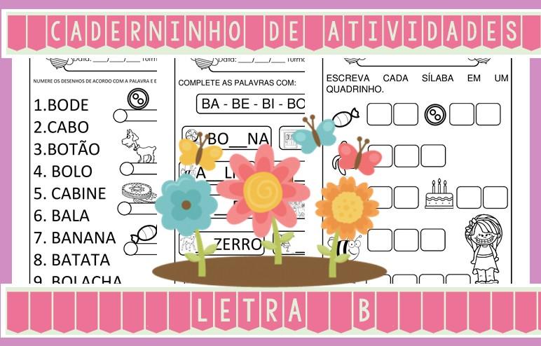 Foto6 - Caderninho de Atividades Letra B