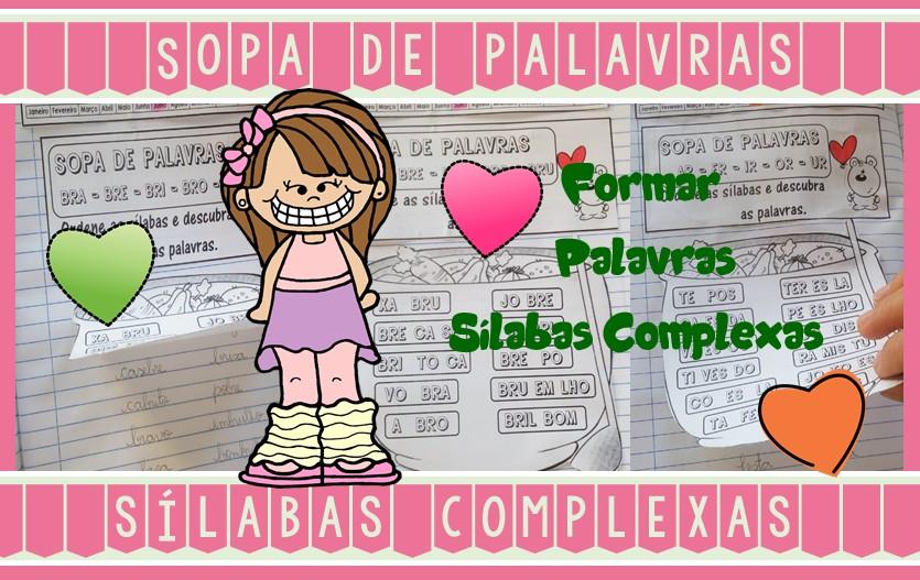 Foto 1 - Caderninho Sopa de Palavras com sílabas complexas.