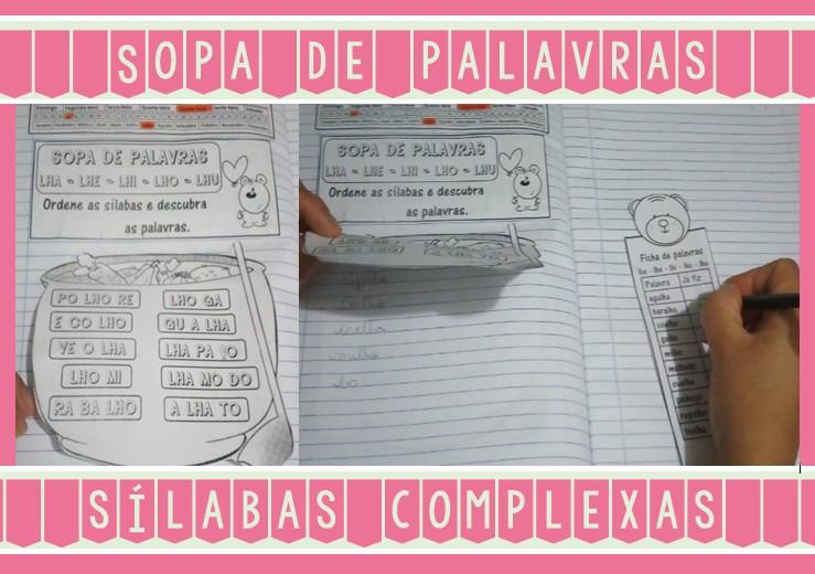 Foto5 - Caderninho Sopa de Palavras com sílabas complexas.