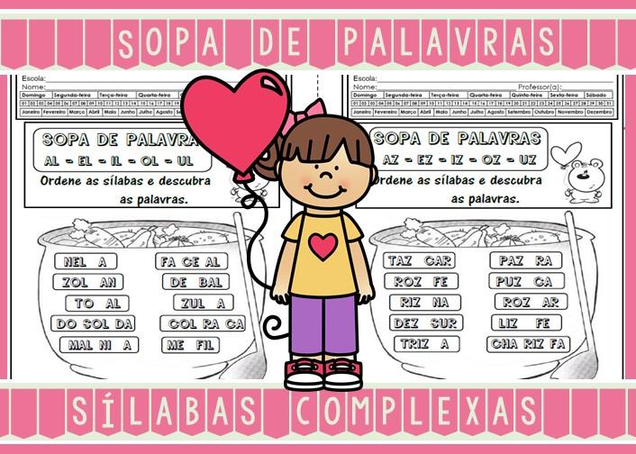 Foto6 - Caderninho Sopa de Palavras com sílabas complexas.