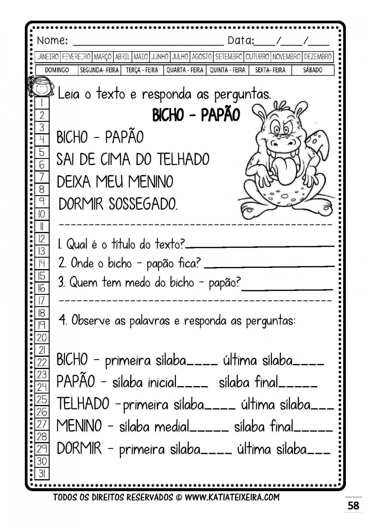 Foto7 - Caderno 1: P e B Nova Coleção Palavras Geradoras.