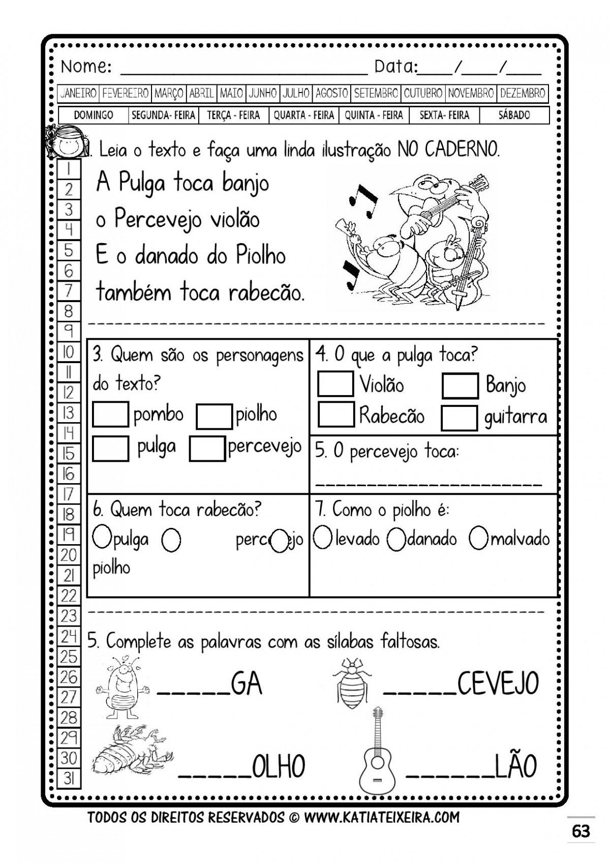 Foto8 - Caderno 1: P e B Nova Coleção Palavras Geradoras.