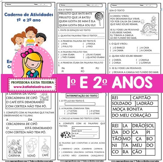 Imagem do produto Caderno de Atividades Leitura e Interpretação 1º e 2º anos