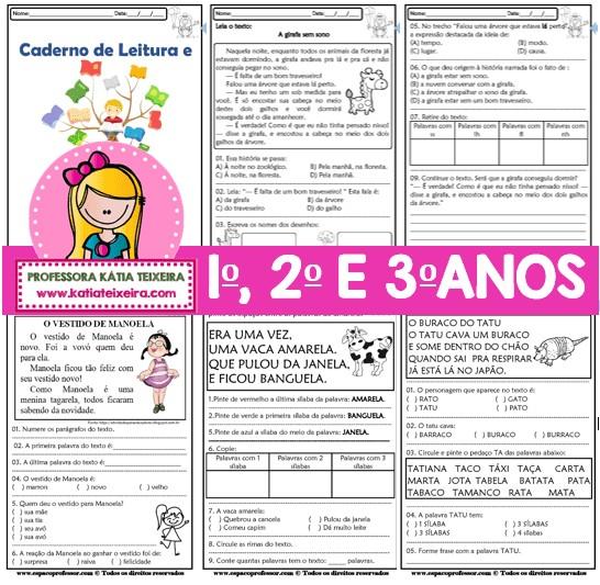 Foto 1 - Caderno de Atividades Leitura e Interpretação de Textos para Alfabetização