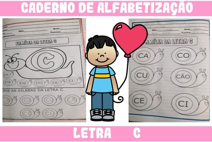 Foto 1 - Caderno de Atividades Letra C