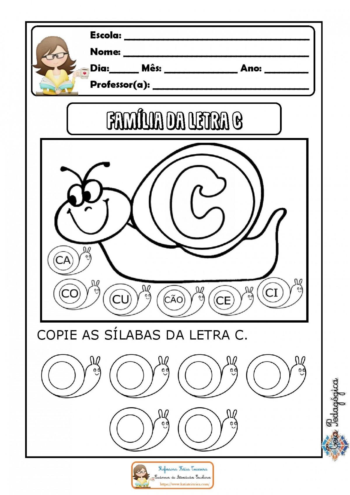 Foto2 - Caderno de Atividades Letra C