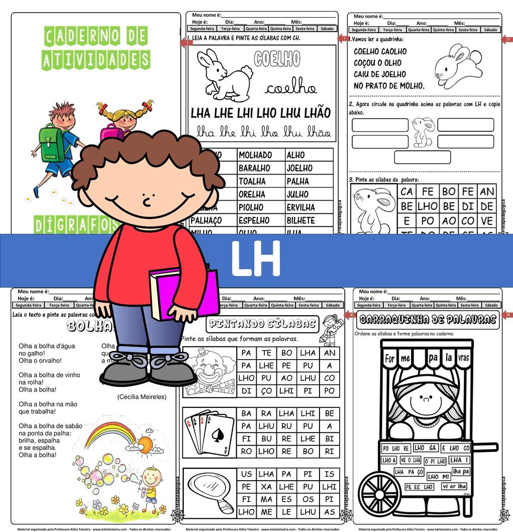 Foto 1 - Caderno de atividades LH com 47 páginas