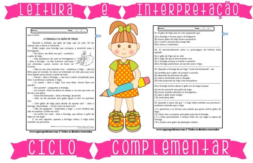 Foto3 - Caderno de Leitura e Interpretação 4° e 5° anos