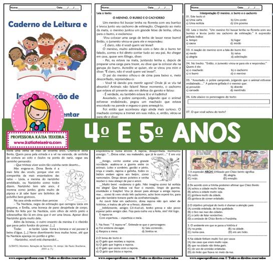 Foto 1 - Caderno de Leitura e Interpretação 4° e 5° anos