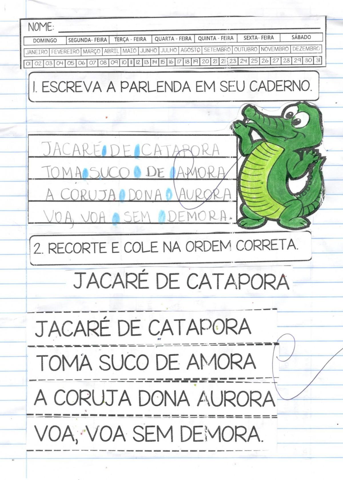 Foto4 - Caderno Jacaré de catapora com habilidades da BNCC - Letra J