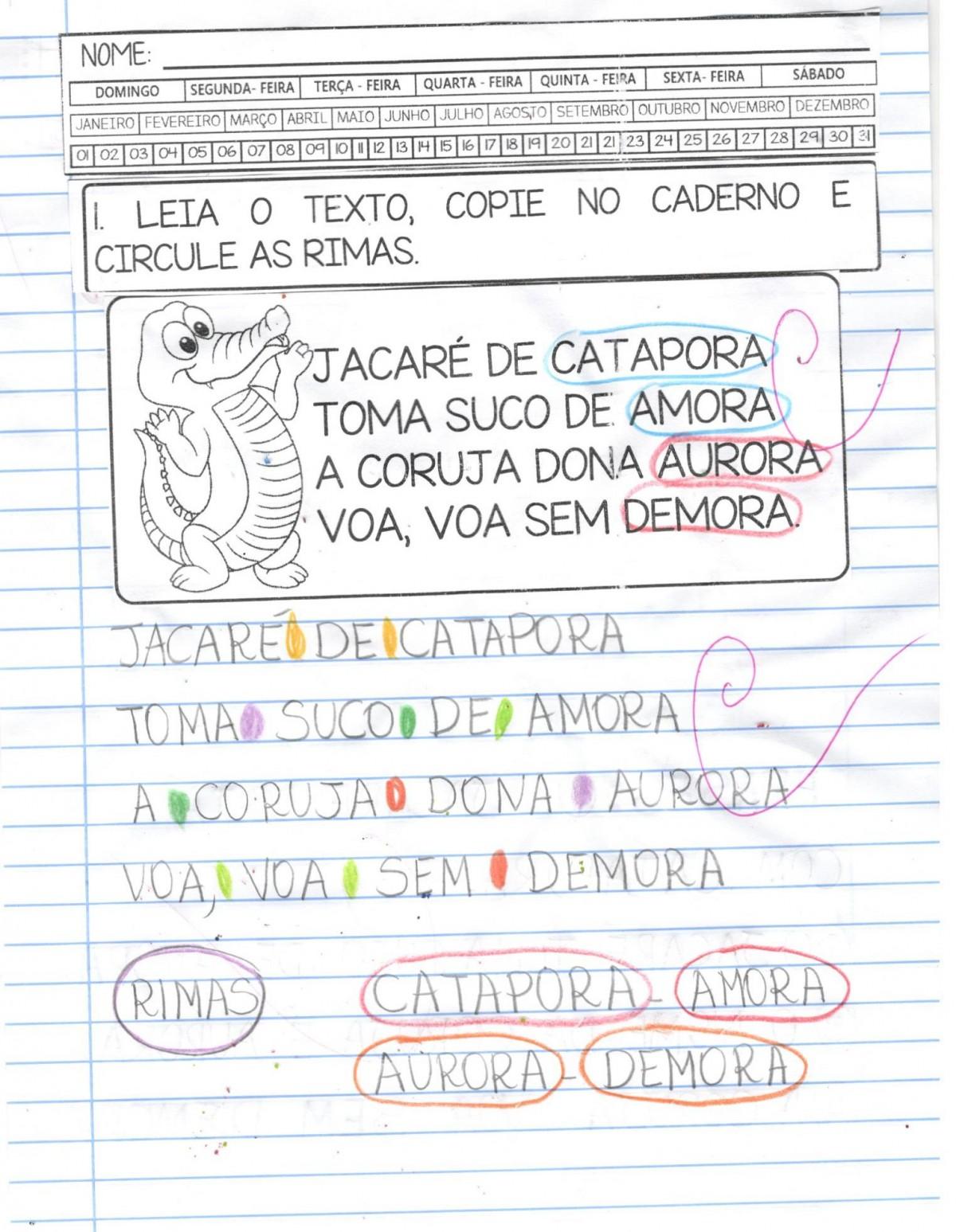 Foto5 - Caderno Jacaré de catapora com habilidades da BNCC - Letra J