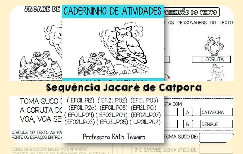 Foto 1 - Caderno Jacaré de catapora com habilidades da BNCC - Letra J