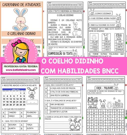 Imagem do produto Caderno o Coelho Didinho com Habilidades da BNCC + Brindes