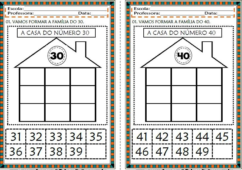 Foto3 - Cadernos de Atividades Matemática para Alfabetização Números de 0 a 100