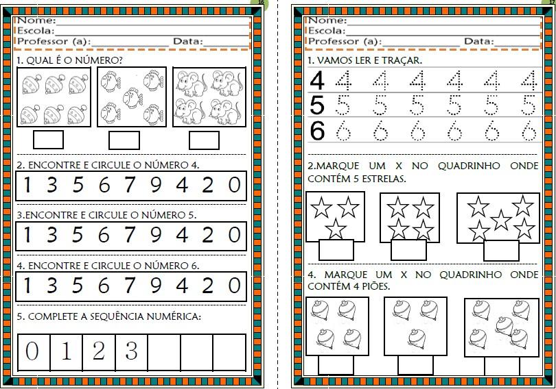 Foto4 - Cadernos de Atividades Matemática para Alfabetização Números de 0 a 100