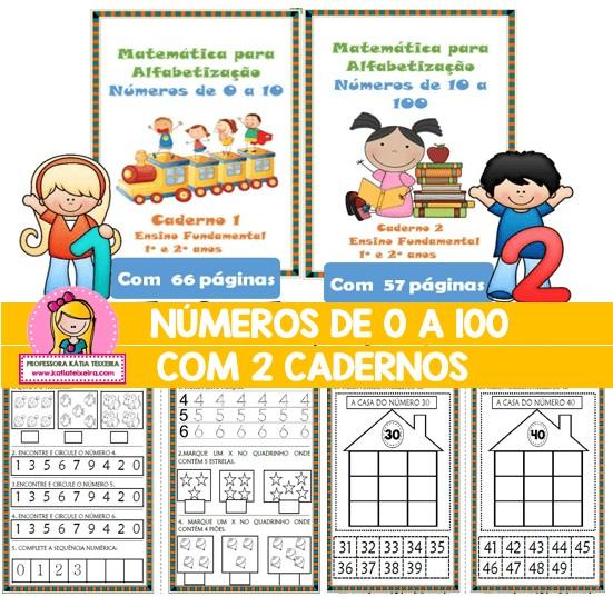 Imagem do produto Cadernos de Atividades Matemática para Alfabetização Números de 0 a 100