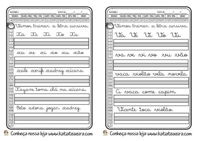 Foto3 - Caligrafia letras, sílabas, palavras e frases