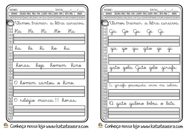 Foto5 - Caligrafia letras, sílabas, palavras e frases