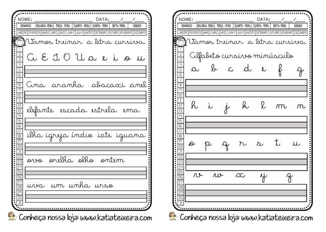 Foto7 - Caligrafia letras, sílabas, palavras e frases