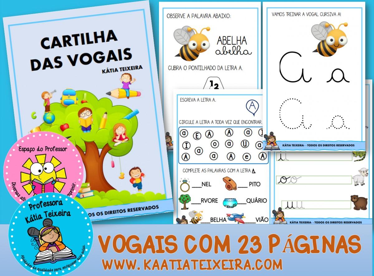 Imagem do produto Cartilha de Alfabetização vogais com 23 páginas