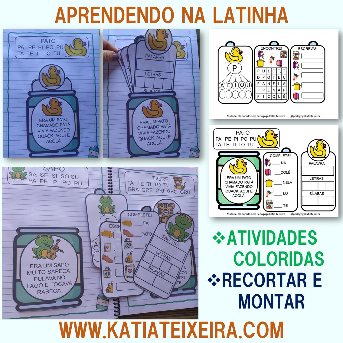 Imagem do produto Coleção de atividades de alfabetização aprendendo na latinha