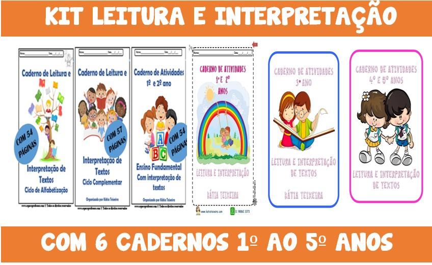 Foto 1 - Kit leitura e interpretação de textos com 6 cadernos