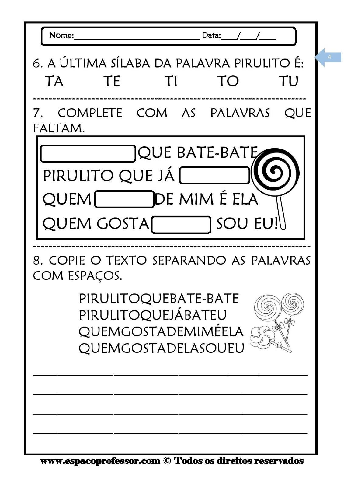 Foto2 - Kit leitura e interpretação de textos com 6 cadernos